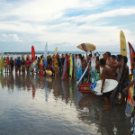 """Surfers Paddle Out in Honor of Bali Legend Kim """"Fly"""" Bradley"""