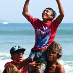 Andre Julian Claims 2nd Consecutive Quiksilver King of the Groms Crown and Surfing Legends Win Tag Team Event in Bali Big Eco Weekend at Kuta Beach
