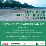 """Together We Can Keep Bali's Beaches Clean, 2016 – 2017"""